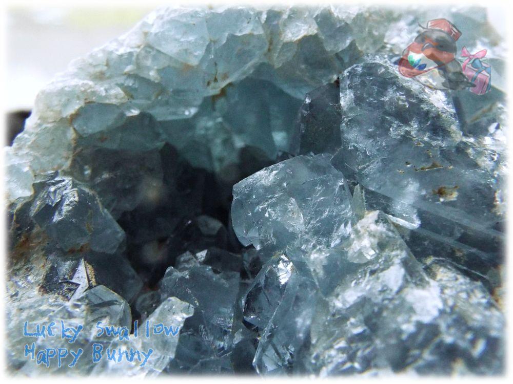 画像1: マダガスカル産 セレスタイト クラスター 結晶 標本 原石(別名:天青石 celestite) No.3444 (1)