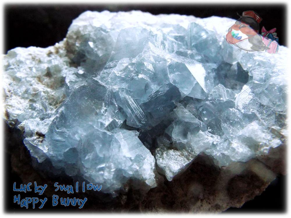 画像1: マダガスカル産 セレスタイト クラスター 結晶 標本 原石(別名:天青石 celestite) No.3443 (1)