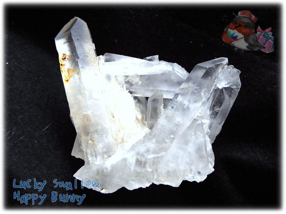 画像1: 天然水晶クラスター 標本 原石(別名:クォーツ quartz 石英) No.3465 (1)
