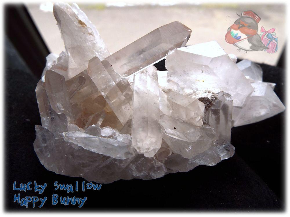 画像1: 天然水晶クラスター 標本 原石(別名:クォーツ quartz 石英) No.3468 (1)