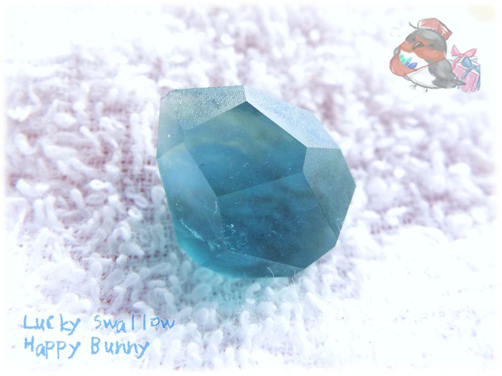 画像1: 宝石研磨体験セット Lv.01 ブルーグリーンフローライト No.3484 (1)
