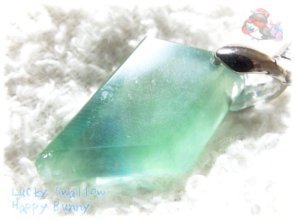 画像1: 大特価♪ コード選択可能 グリーンブルーフローライト バイカラー ブルーグリーン 青緑 ネックレス ペンダント No.3537 (1)