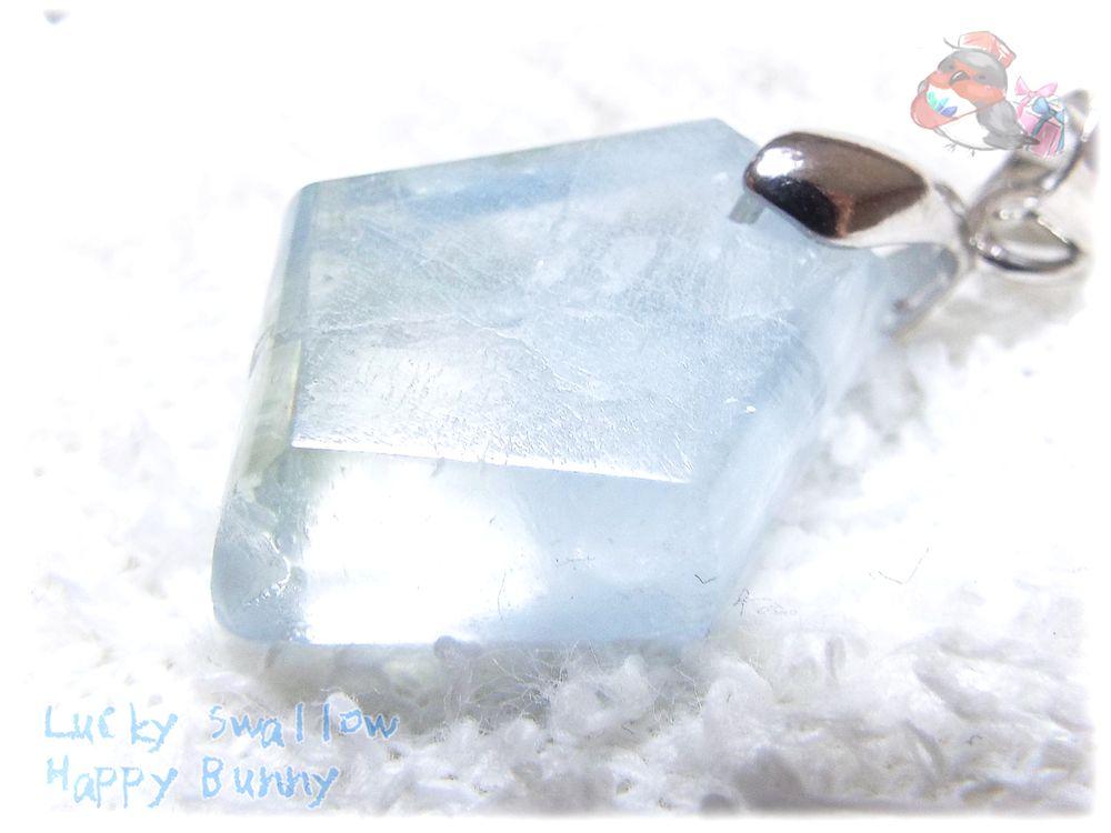 画像1: 大特価♪単結晶 マダガスカル産 セレスタイト ネックレス ペンダント 天青石 celestite No.3540 (1)