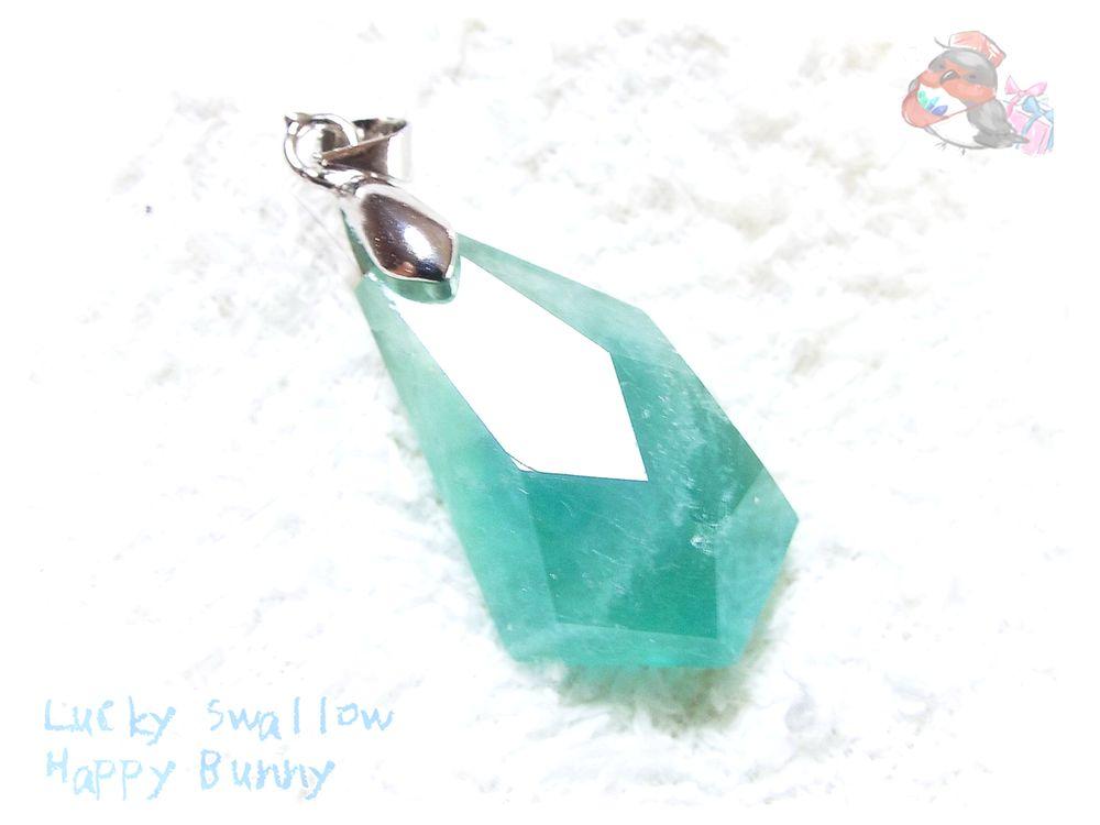 画像1: セール品 コード選択式 ブルーグリーンフローライト バイカラーブルーフローライト ネックレス ペンダント No.3551 (1)