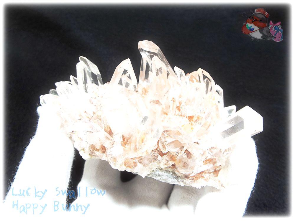 画像1: 約269g 水熱育成法 ユニーク 人工水晶 クォーツ クラスター インテリア 結晶 (別名:クォーツ 水晶 石英 ) No.3559 (1)