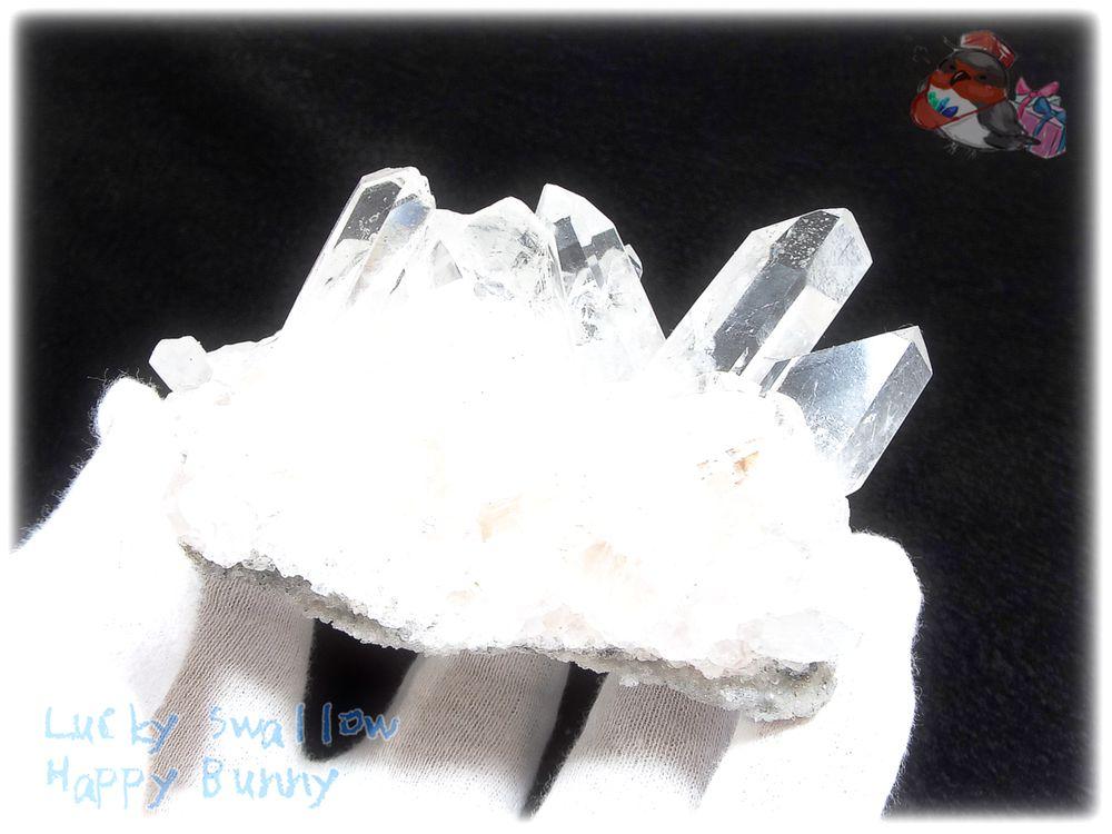 画像1: 約238g 水熱育成法 人工水晶 クォーツ クラスター インテリア 結晶 (別名:クォーツ 水晶 石英 ) No.3560 (1)