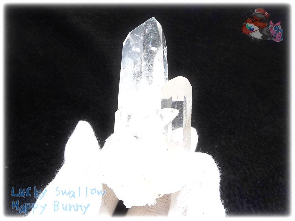 画像1: 約134g 水熱育成法 人工水晶 クォーツ クラスター インテリア 結晶 (別名:クォーツ 水晶 石英 ) No.3561 (1)