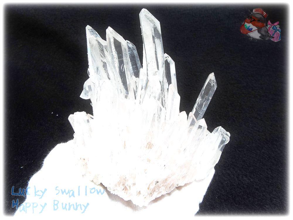 画像1: 約476g 水熱育成法 人工水晶 クォーツ クラスター インテリア 結晶 (別名:クォーツ 水晶 石英 ) No.3562 (1)