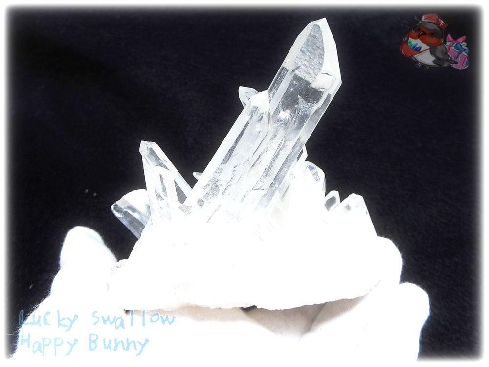 画像1: 約305g 水熱育成法 人工水晶 クォーツ クラスター インテリア 結晶 (別名:クォーツ 水晶 石英 ) No.3563 (1)