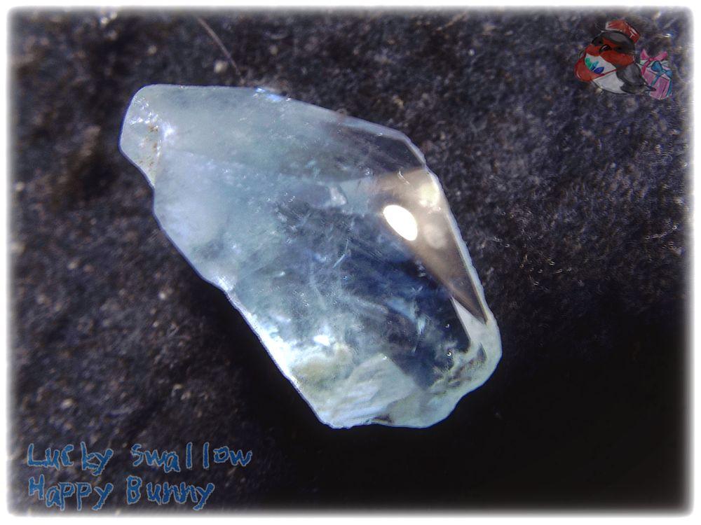 画像1: コレクション向け ファンシーファセットカット マダガスカル産 セレスタイト 天青石 celestite No.3586 (1)