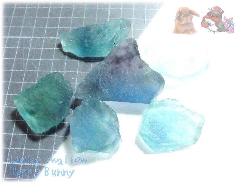 画像1: ブルーフローライト ブルーグリーンフローライト 蛍石 原石 No.3842 (1)
