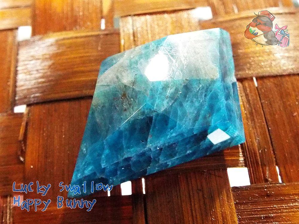画像1: 工房謹製 ブルーアパタイト マダガスカル産♪No.2565♪ (1)