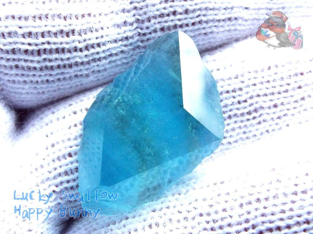 画像1: 工房謹製 ブルーフローライト 別名:Fluorite フルオライト 螢石 蛍石 No.2970♪ (1)
