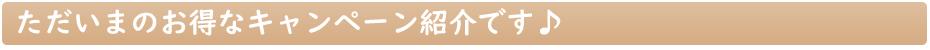 キャンペーン 紹介 お買い得 インフォメーション セール お得